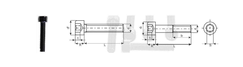 Hexagon Socket Head Cap Screws Din 912/ ISO 4762